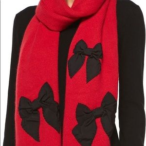 Kate Spade Red Bow scarf and hat set